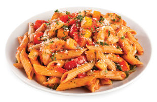 Shrimp and Vegetables with Whole Wheat Pasta