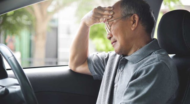 Man concerned about his driving