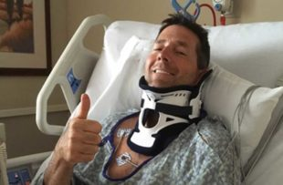 Craig McLeod in his hospital bed
