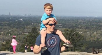 Dr. Alex Duvall with his son David, 4.