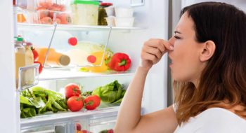 Woman notices smell coming from refrigerator
