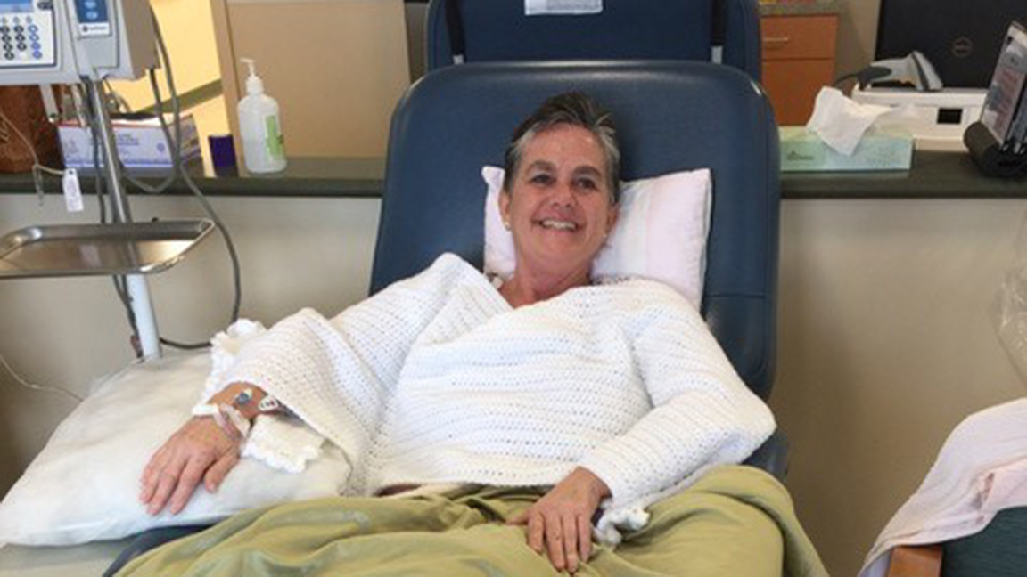 Mica Pruitt as she began treatment for breast cancer.