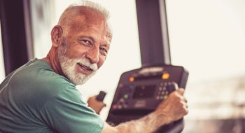 Man in cardiac rehab