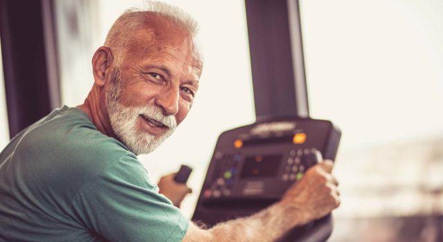 Man in cardiac rehab