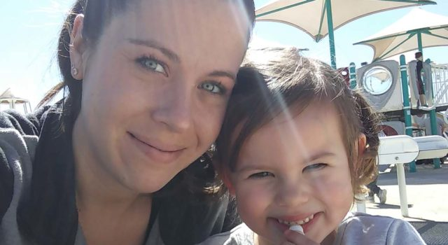 Kaite MacNevin and her daughter, Lilly.