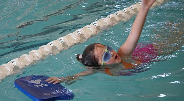 Addi's involvement with the swim team at Tidelands HealthPoint Center for Health and Fitness has proven a great way for her to gain strength.