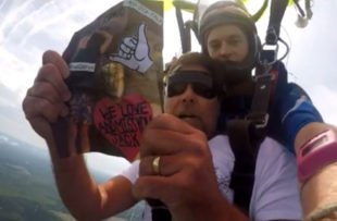 Jason Clemons skydived to honor his friend and fellow surfer, Jack Buffington, and raise awareness for suicide prevention.