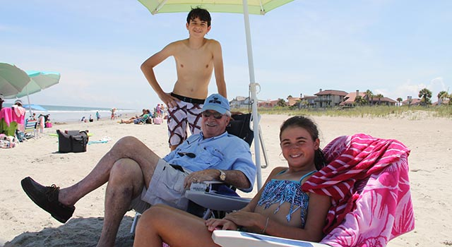 Alex Miller cherishes time with his family, including his grandchildren.