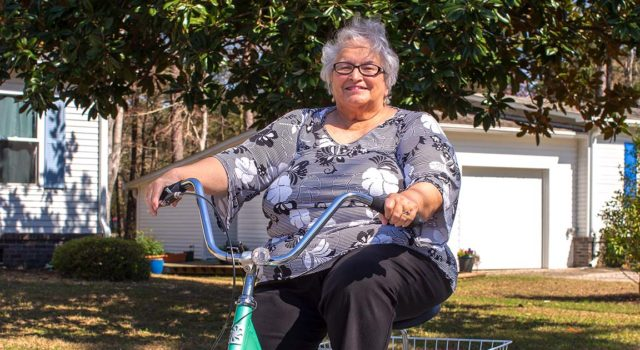 Margaret Jones is back to riding her tricycle after finding relief from debilitating back pain.