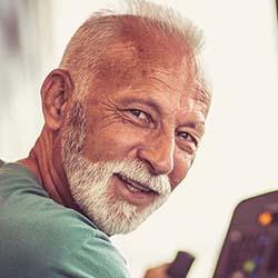 Man at rehab center.