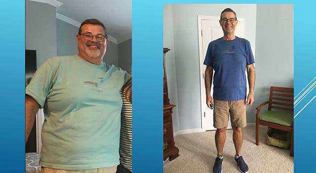 After retiring, Larry's weight shot up to 305 pounds, and he decided to do something about it.
