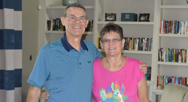 Lorraine and Larry Schertel lost a combined 225 pounds through the year-long Tidelands Health diabetes prevention program, a community-based effort that teaches healthy eating habits and the importance of regular exercise to improve health and reduce the risk of developing diabetes.