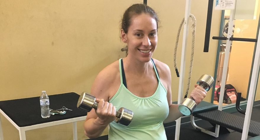 During her pregnancy, Dr. Monica Selander ate healthy and continued to work out regularly, which helped her maintain a healthy weight.