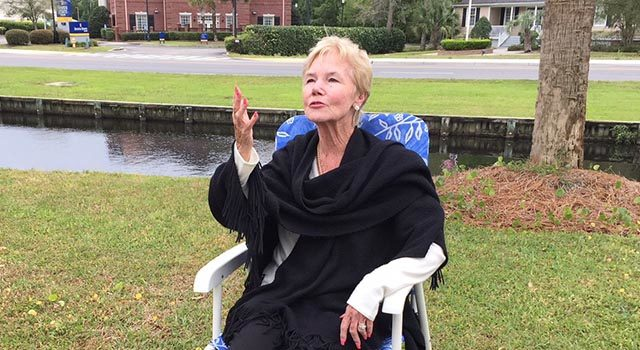 Karen Bainbridge went to the hospital every day to blow kisses and send prayers to her husband.