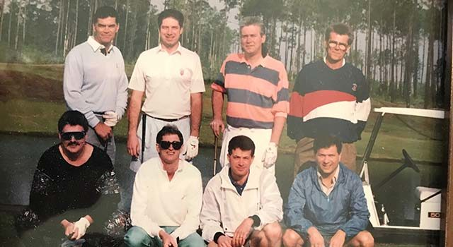 Charles Costello, bottom left, and his friends have enjoyed a close bond since their early years.