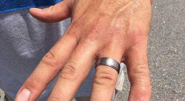 Cory Shaw, director of operations at EventWorks, was ecstatic that is wedding ring had been found.