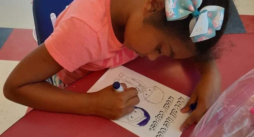 Children attending the Georgetown County Family YMCA's summer camp made cards to show their support for Tidelands Health team members on the front lines of the COVID-19 pandemic.