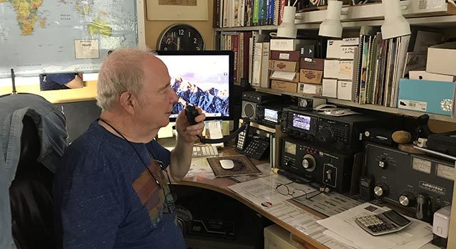 Capicotto, a veteran of the U.S. Navy, continues to serve his community as a volunteer radio operator during hurricanes and other incidents.