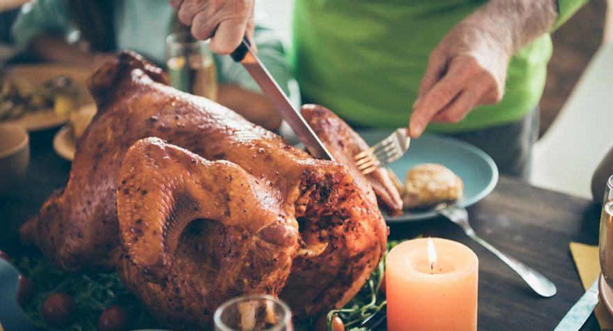 Carving a turkey