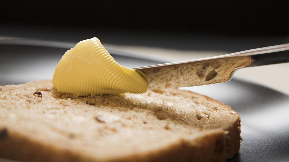 Knife and butter
