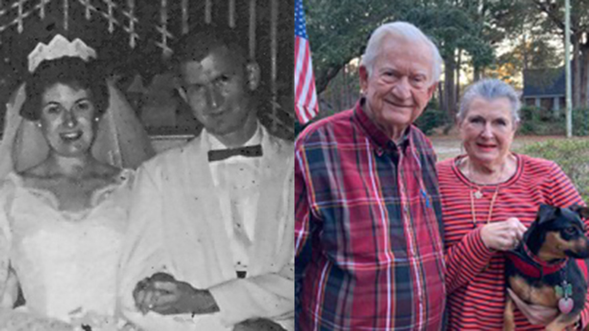 """Pawleys Island residents Bleeker and Robert """"Bubba"""" Cannon Jr. are looking forward to celebrating their 60th anniversary in August after receiving the COVID-19 vaccination from Tidelands Health."""