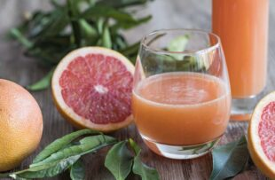 Glass of grapefruit juice