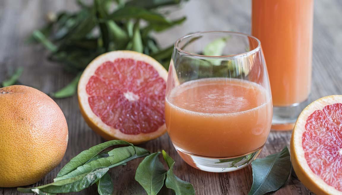 Glass of grapefruit juice